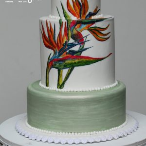 Bird of paradise flower cake