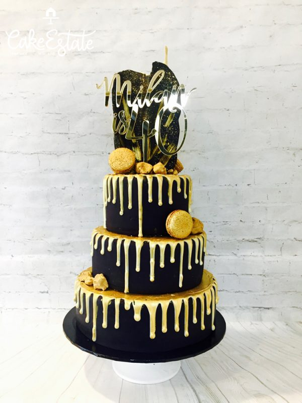 Golden rock Birthday cake