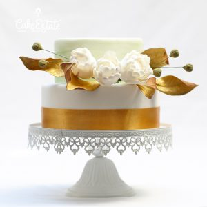 Golden Roses Wedding Cakes